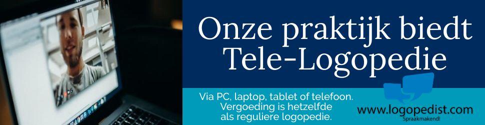 Wij bieden Tele-Logopedie.
